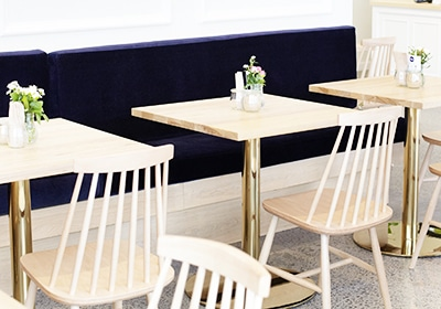 Gold Table Base | Restaurant and cafe table bases