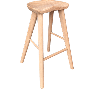 Saddler High Stool Natural | hospitality nz